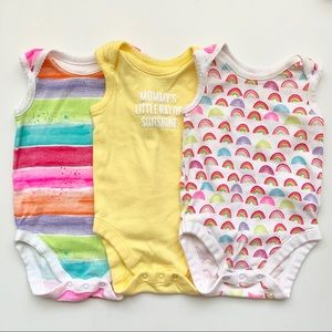 The Children's Place Set of 3 Bodysuit 0-3 Months